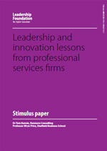 Leadership and innovation lessons from professional services firms
